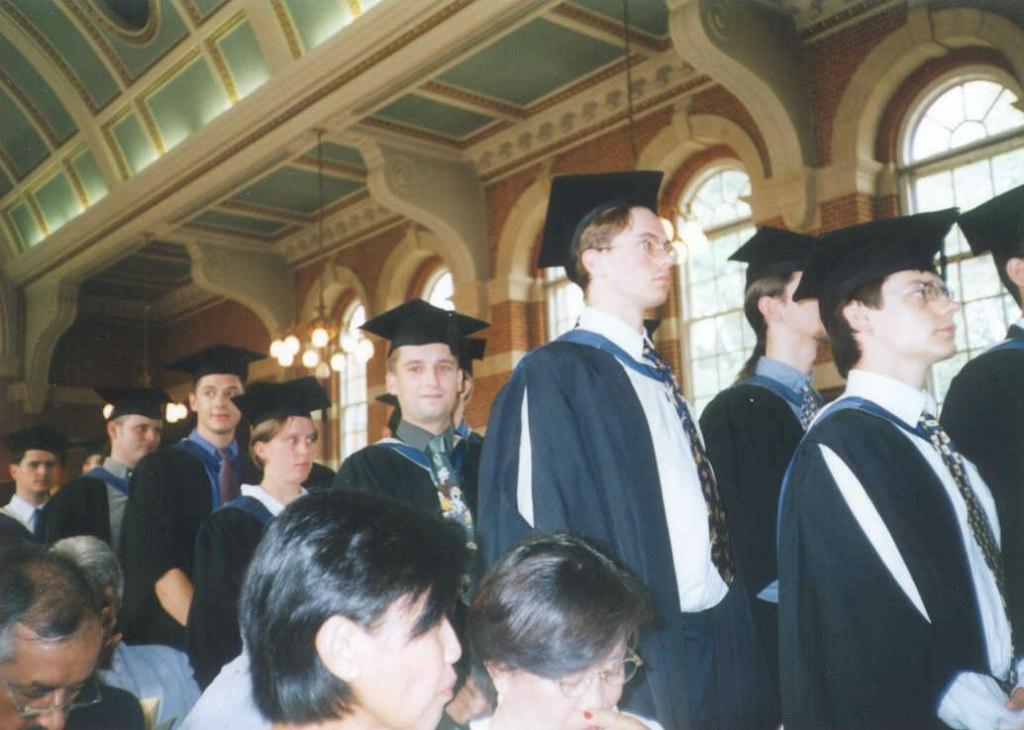 Stuart graduating at the University of Reading