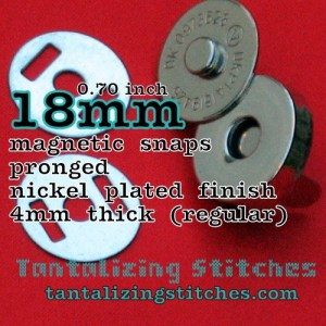 18mm regular magnetic snap in nickel finish