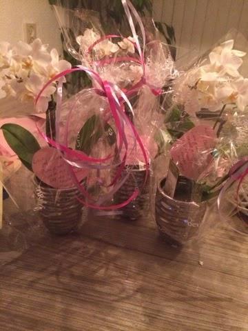 afscheidstraktatie voor het kinderdagverblijf plantjes voor de juf