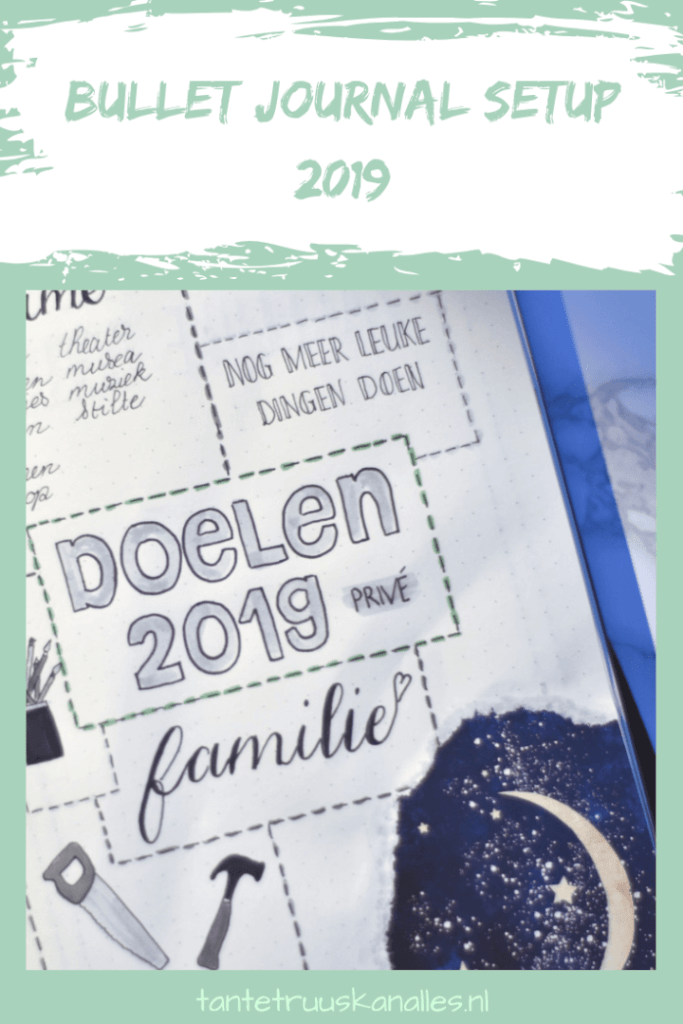 Bullet Journal Setup 2019