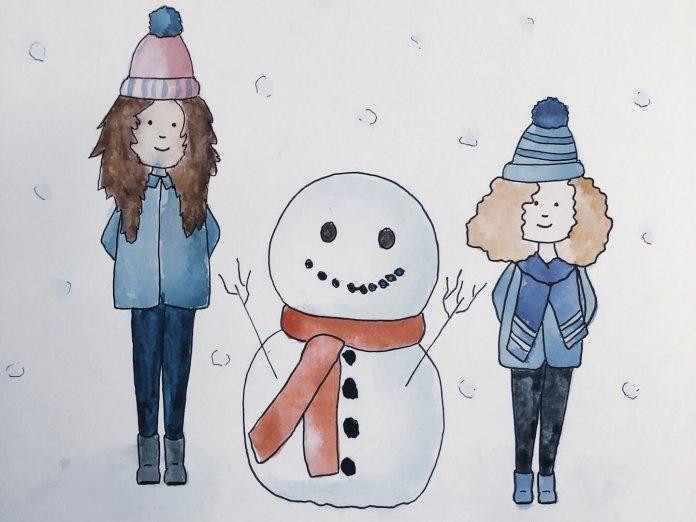De laatste kerstvoorbereidingen winter