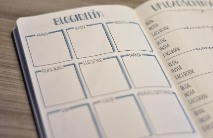 Mijn bullet journal in januari blogideeen