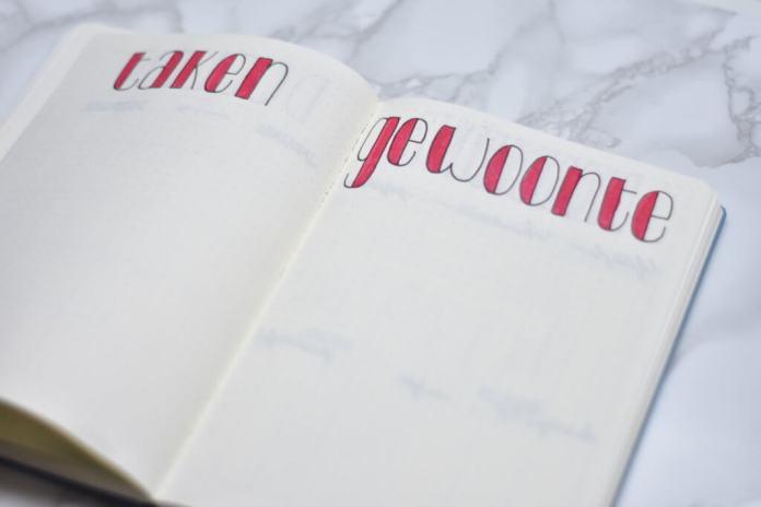 Mijn bullet journal setup voor december taken en gewoontes
