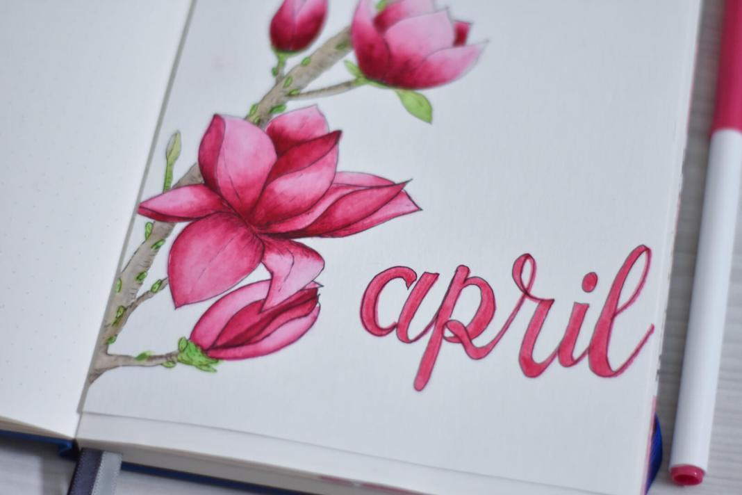 bullet journal in april magnolia
