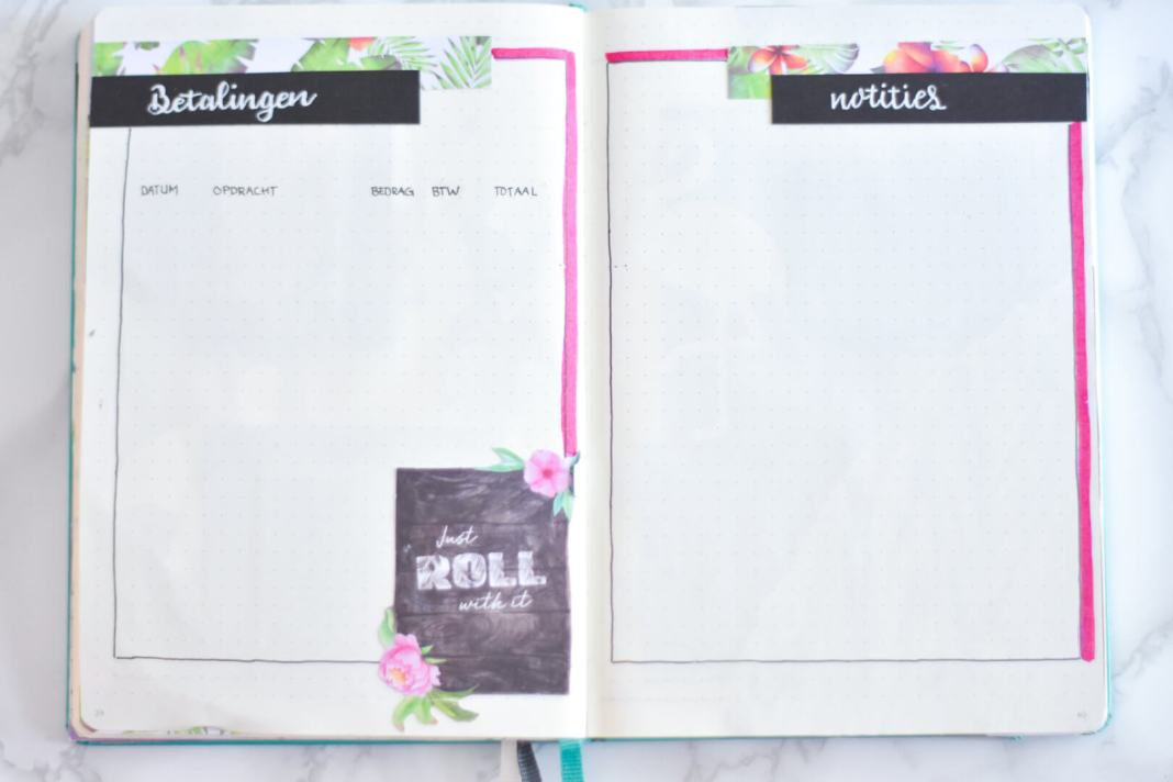 bullet journal in augustus betalingen