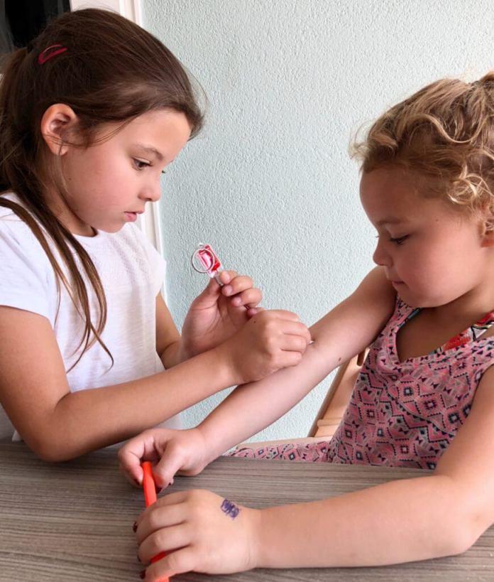 het bloed geven heeft indruk gemaakt op de kinderen