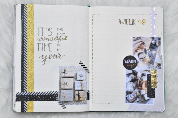 weekplanning bujo december