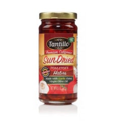 Tantillo Sundried Tomatoes Halves – Garlic 8.5oz