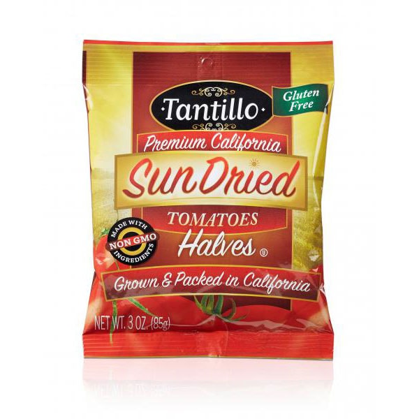 Tantillo Sundried Tomatoes – Halves – 3oz Bag