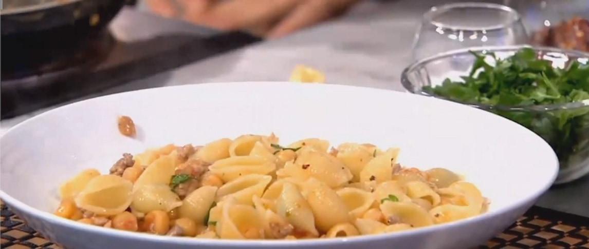 pasta chickpeas sausage UTA