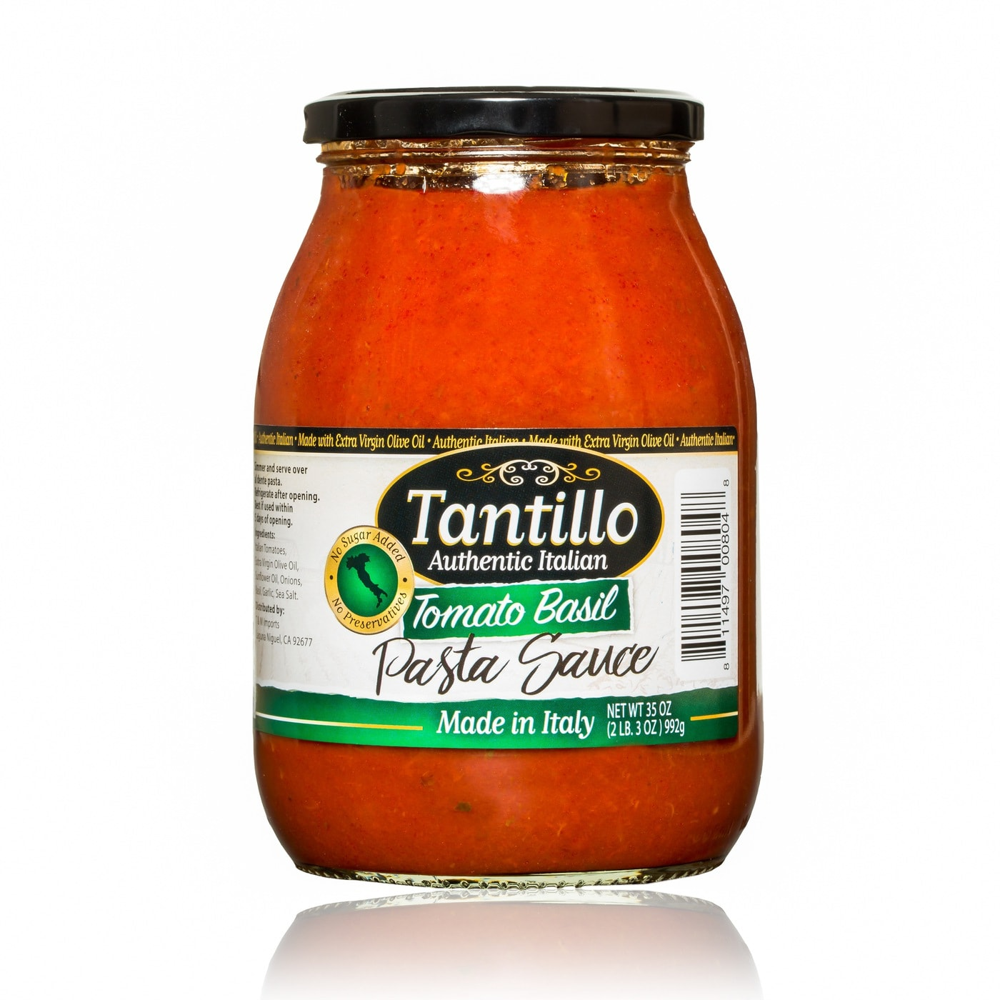 Tantillo Imported Italian Tomato Basil Pasta Sauce