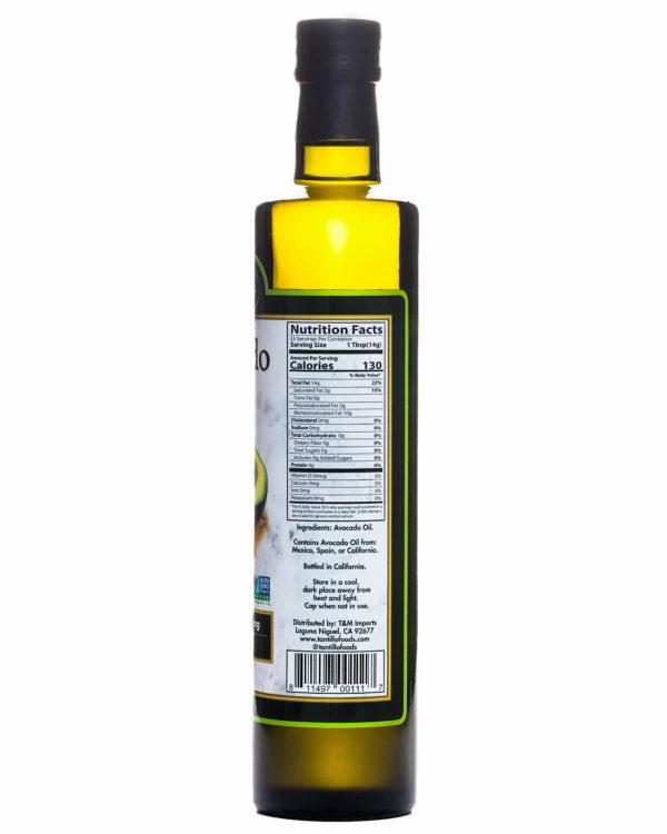 Avocado 500ml Nutritional