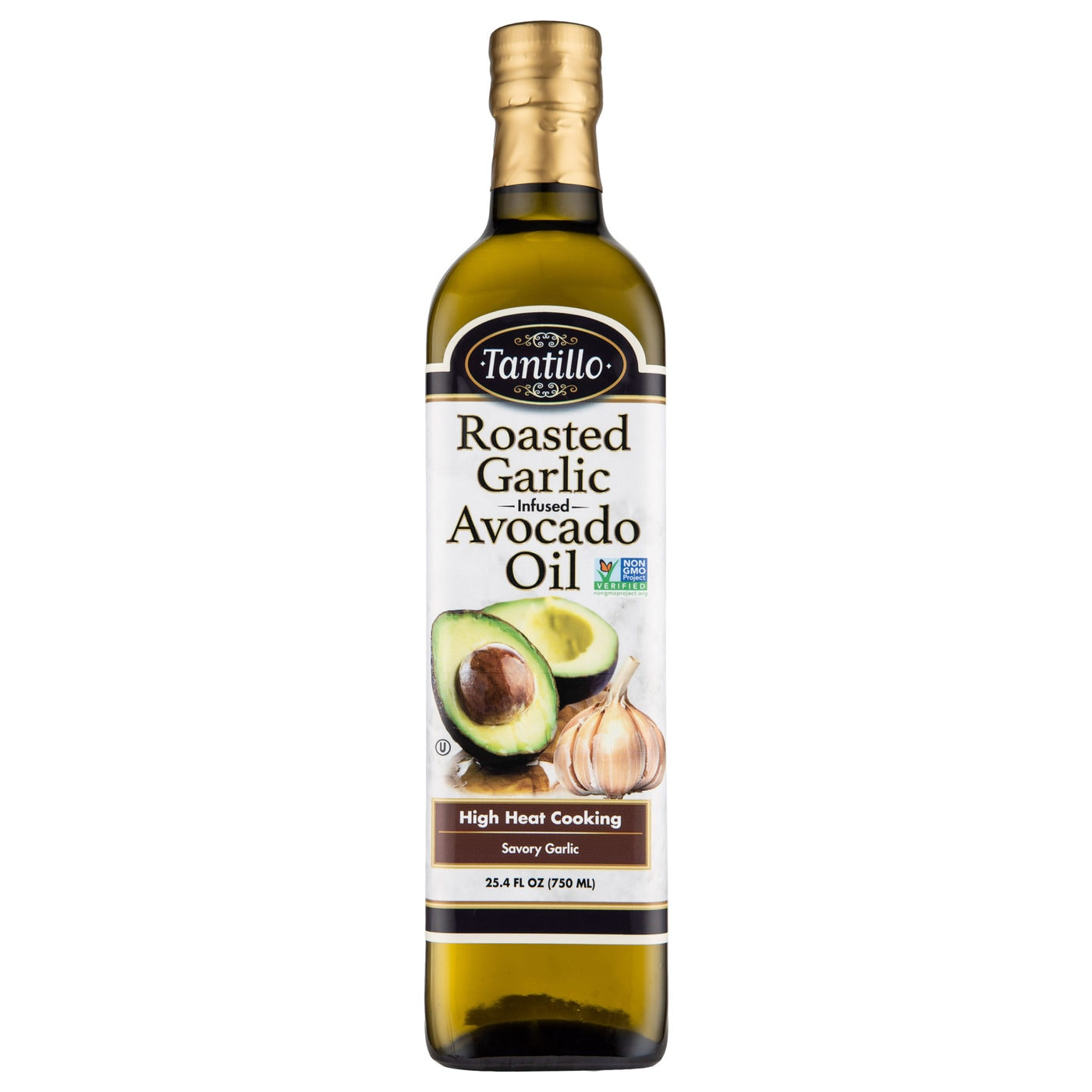 Tantillo Infused Avocado Oil with Garlic 750mL (Pack of 2)