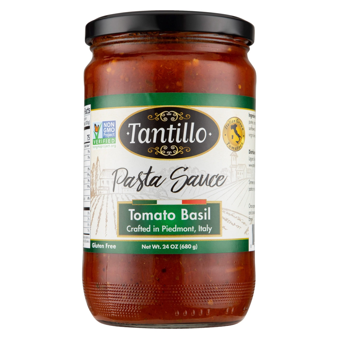 Tantillo Imported Italian Tomato Basil Pasta Sauce 24oz (Pack of 2)
