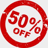 Promoção até 50% OFF !!! (por tempo limitado)