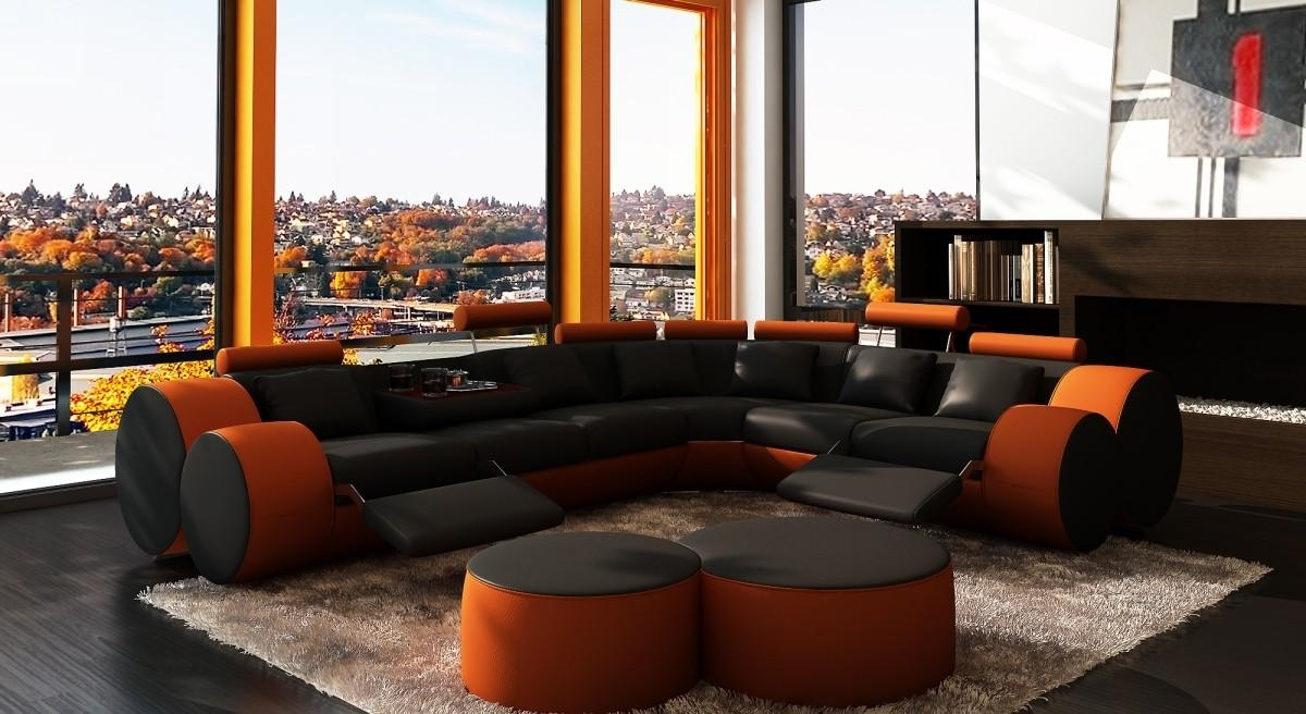 20 Best Collection Of Orange Sectional Sofas Sofa Ideas