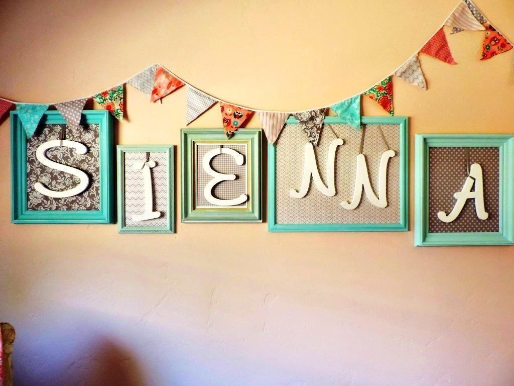 20 Inspirations Baby Name Wall Art