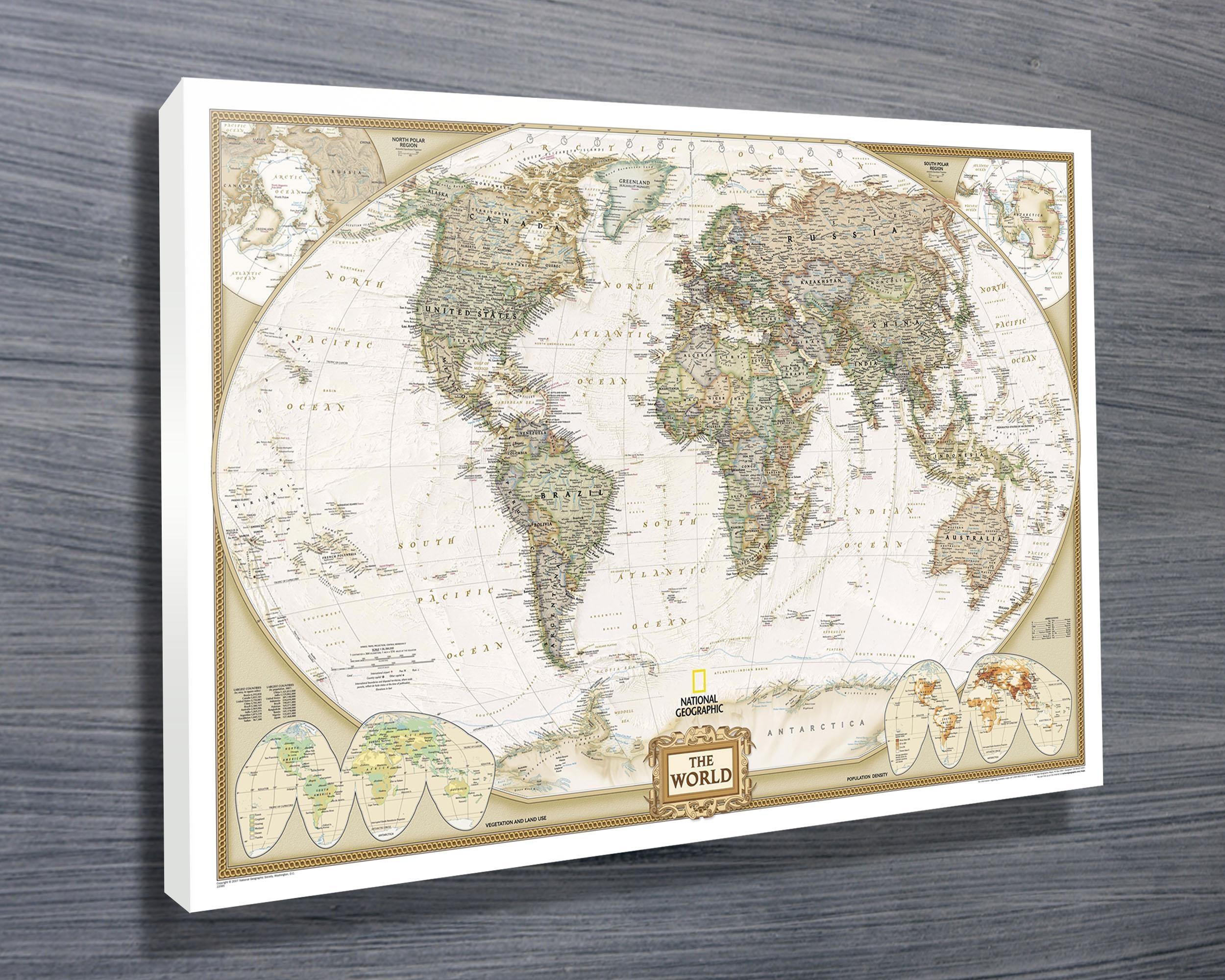 20 Best Framed World Map Wall Art
