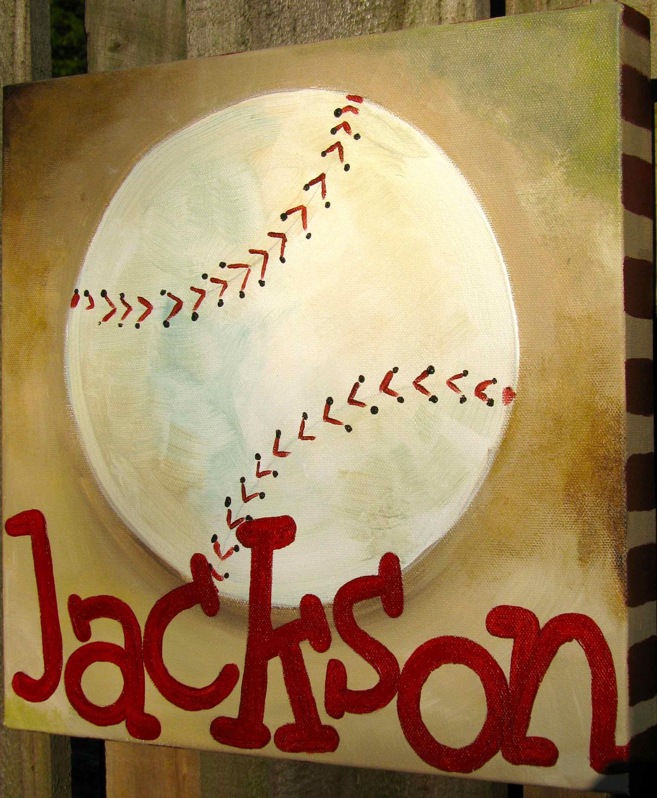 20 Best Collection Of Vintage Baseball Wall Art