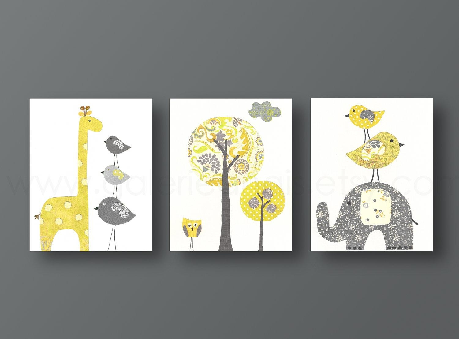20 Inspirations Yellow And Green Wall Art