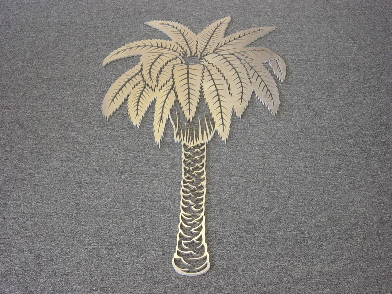 2019 Latest Palm Tree Metal Art