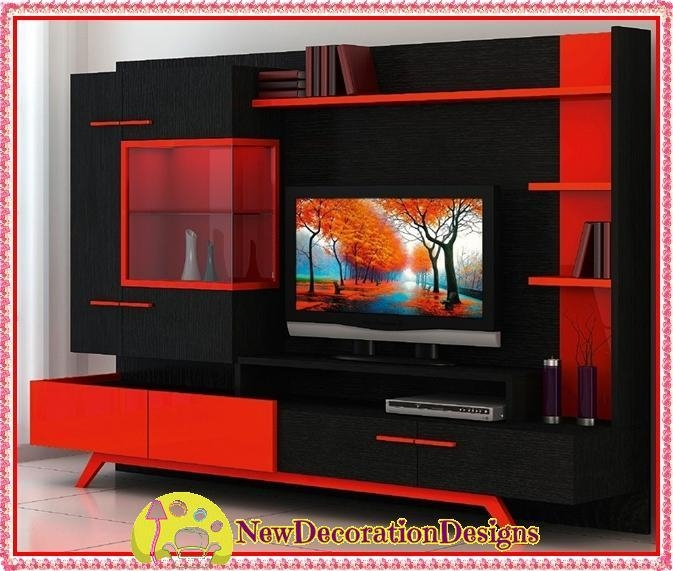 20 Ideas Of Red Tv Units Tv Cabinet And Stand Ideas
