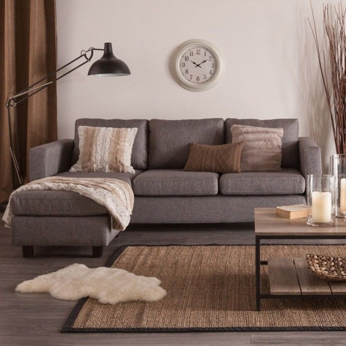 Falslev Sectional Sofa With Chaise Grey Catosfera Net