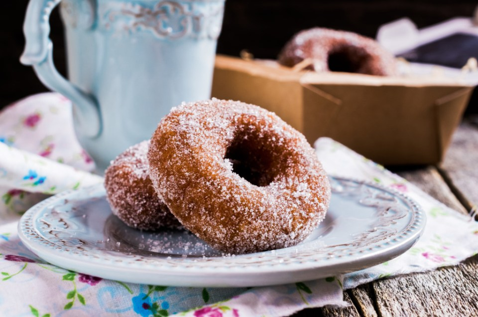 Traditional fried donut
