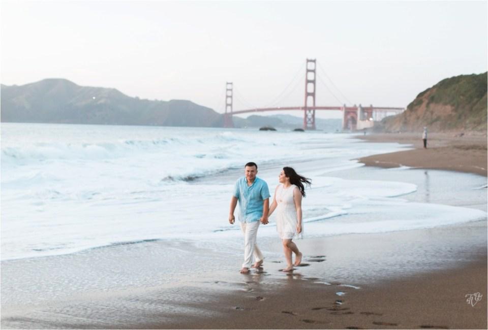 Presidio, San Francisco, Baker Beach engagement session Milca Francisco25