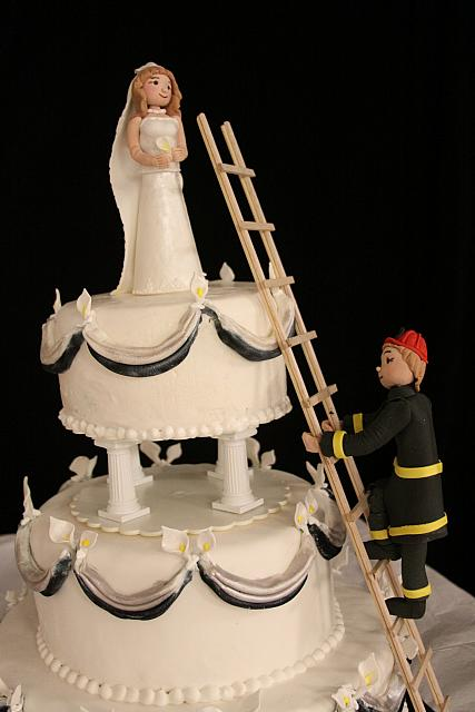 Fireman Wedding Cake View 1