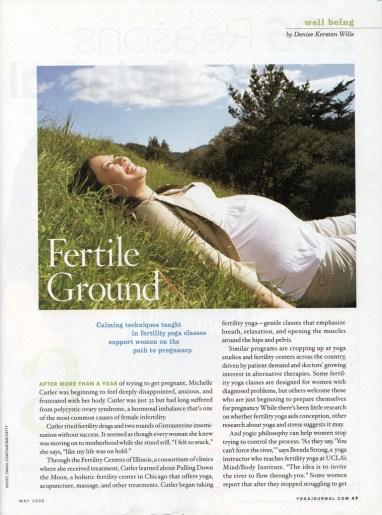 Photo Illustration in Yoga Journal for fertility