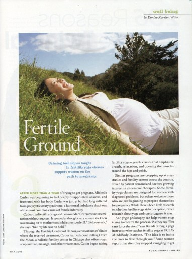 Photo Illustration in Yoga Journal for fertility