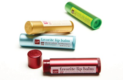 Product shot of The Gap's lip balms