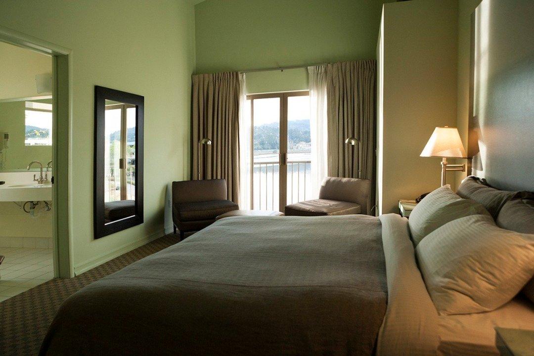Hotel bedroom at Acqua Hotel in Mill Valley, California