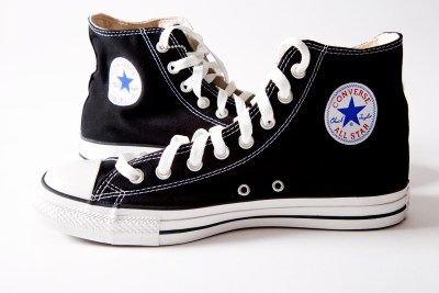 Product shot of Converse high top shoes