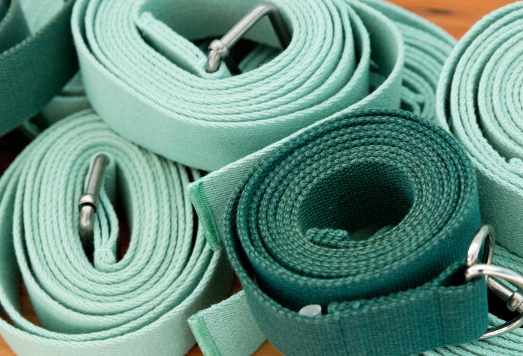 stack of green belts