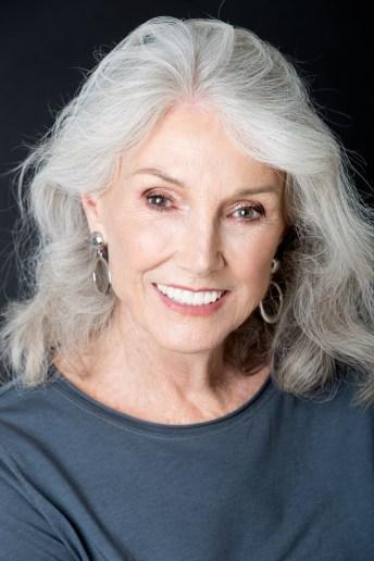 Headshot of elderly woman with white hair (gorgeous woman)
