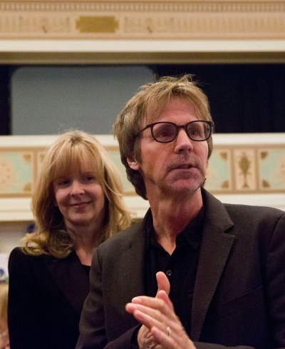 Dana Carvey and wife at fundraiser