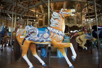 Wooden horse on merry-go-round in San Francisco