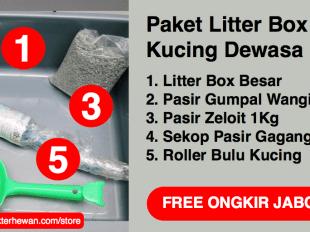 Paket Litter Box Kucing Dewasa