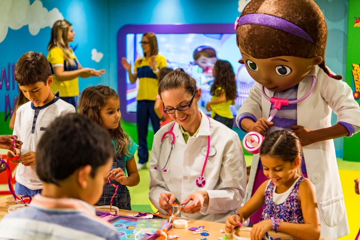 Top 10 Reasons to Book a Disney Cruise to Alaska featured by top US travel blogger, Tanya Foster: image of Club Disney Junior Doc McStuffins