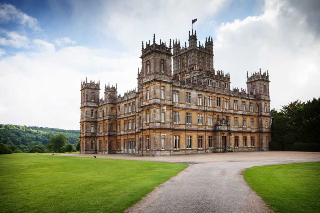 Highclere Castle - Downton Abbey stock photo