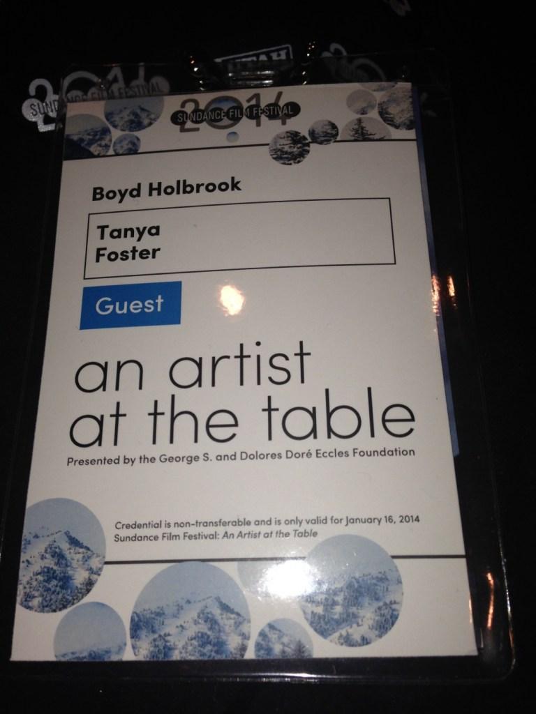 Sundance:  Artist at the Table event