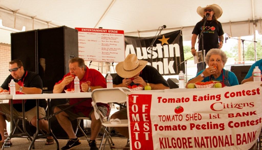 Tomato eating contest - 2014 Tomato Festival