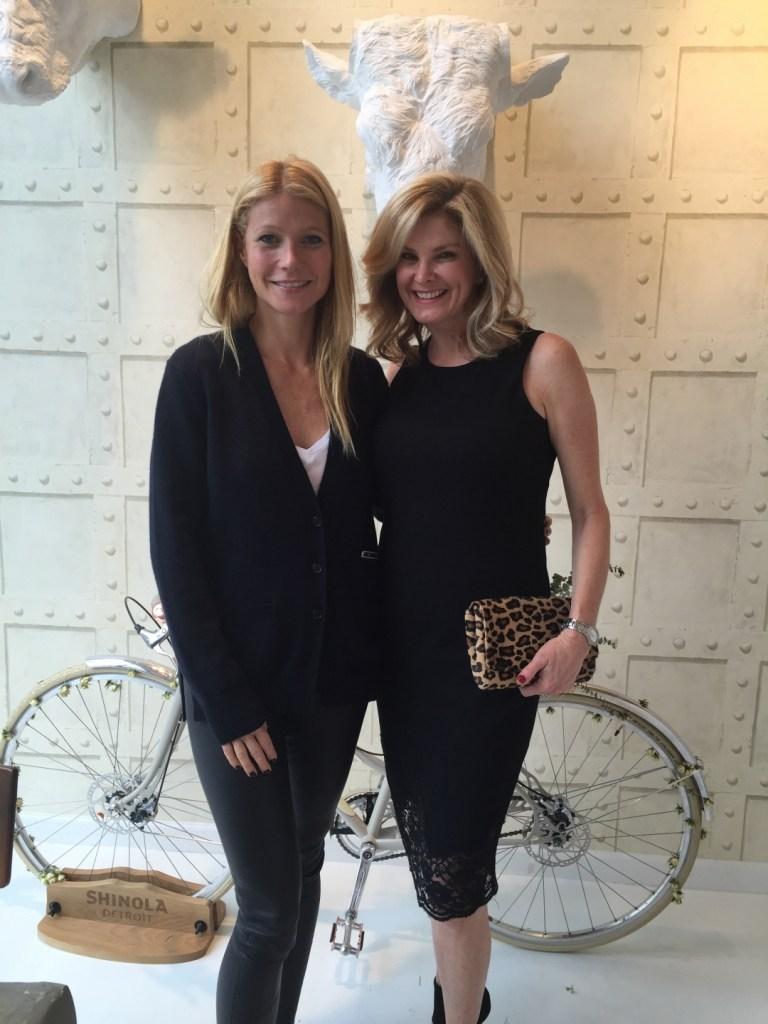 Gwyneth Paltrow and Tanya Foster