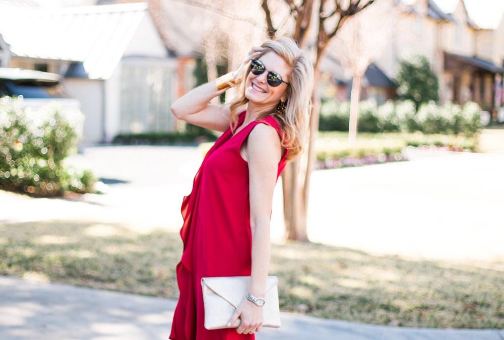 Red Hot Asymmetrical Dress