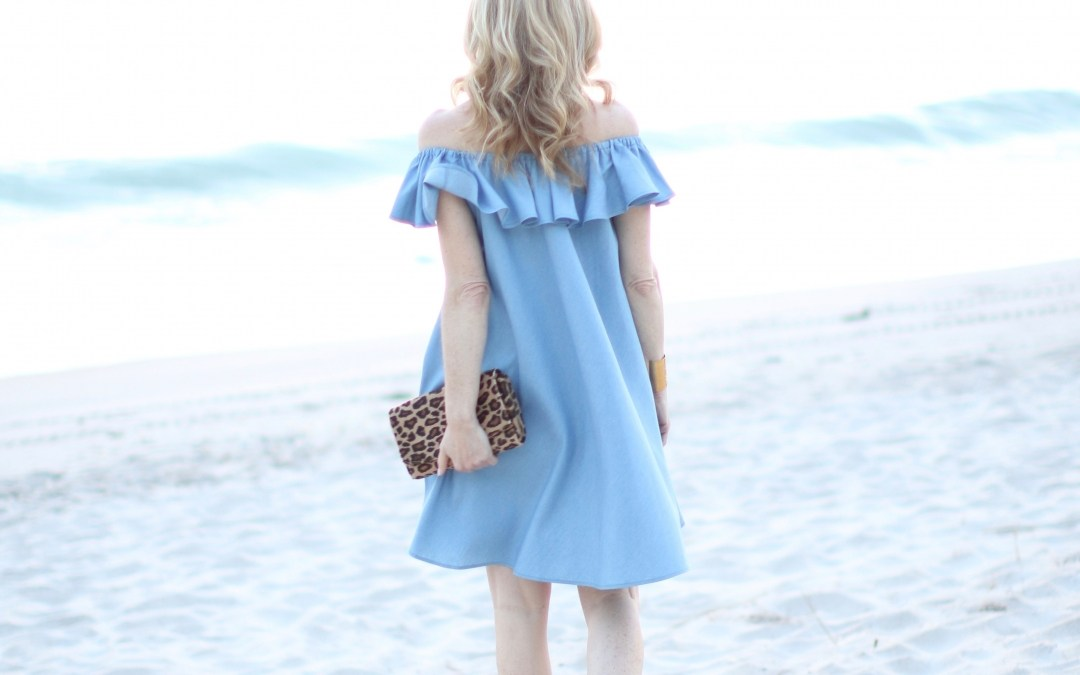 off the shoulder chambray