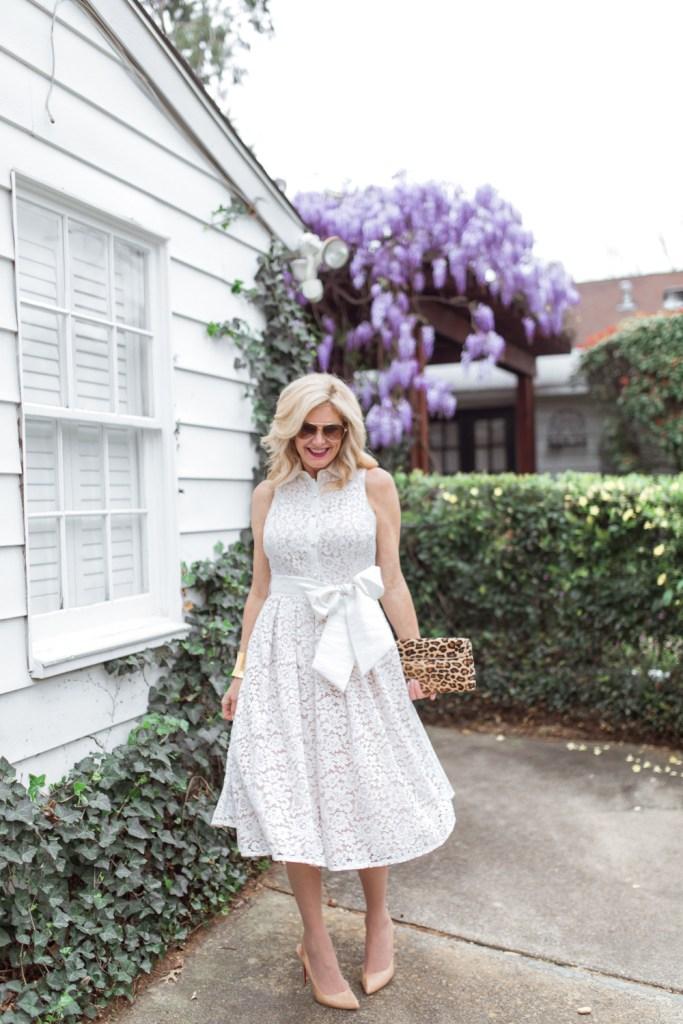 Dillard's lace dress, tanya foster, tanyafoster.com
