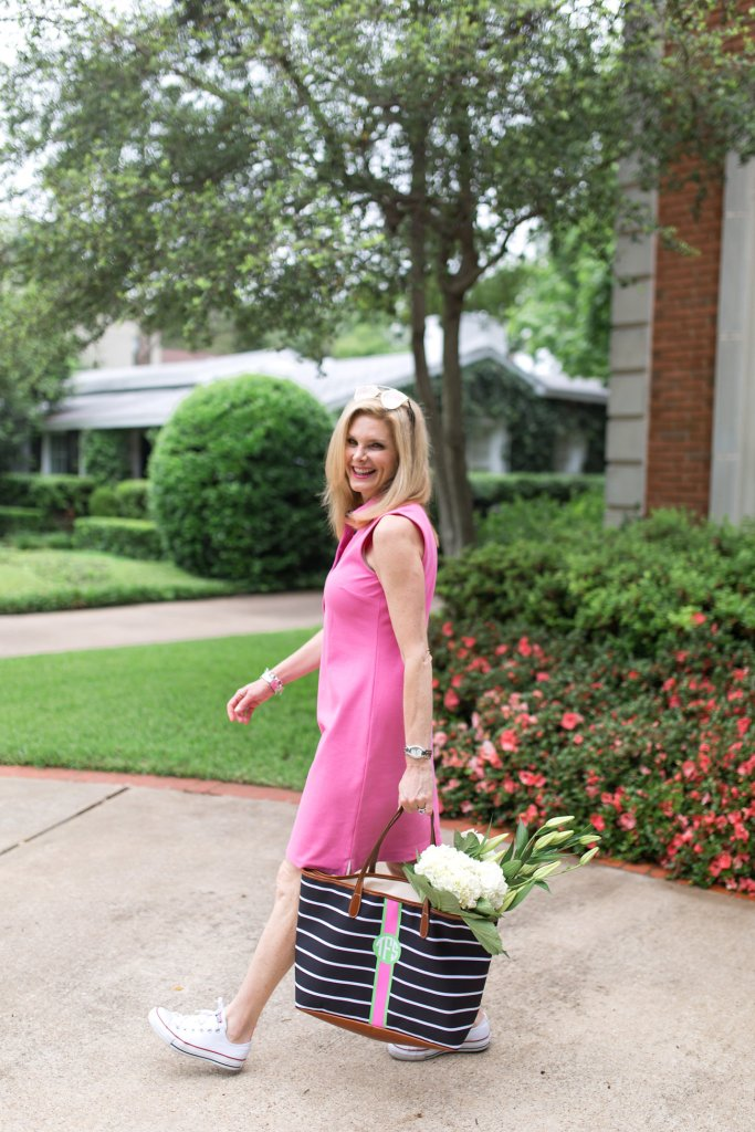 Talbots dress and barrington gifts bag, tanya foster, tanyafoster.com