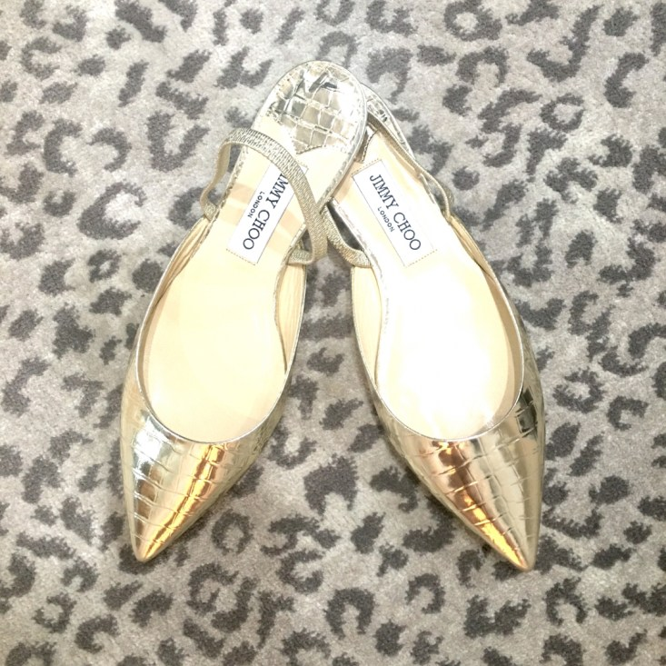 Jimmy Choo, gold flats, summer, sale, Tanya Foster's closet